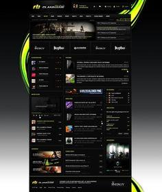 Greenstorm Webspell Clantemplate - Templates - ClanDesigns