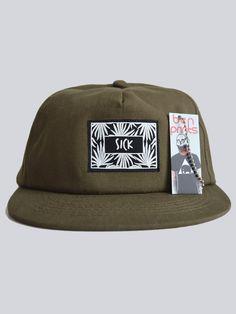Sick Snapback Cap In Khaki, By Ben Prints On Etsy