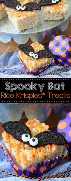 Spooky Bat Rice Krispies Treats - perfect for Halloween!! with @RiceKrispies #RiceKrispies #ad