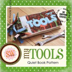 PATTERN for My Tools Plush Book  PDF par shelleywallace sur Etsy