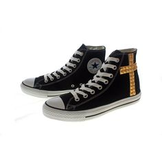 Studded Converse by CUSTOMDUO on ETSY ($95) via Polyvore
