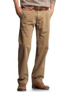 Mens Casual Cotton Slacks Pants Khakis Black Clothing Men Pant ...