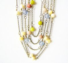 Get the layered look.  Beaded Necklace 16inch Gemstone or Crystal by TwigsAndLace on Etsy