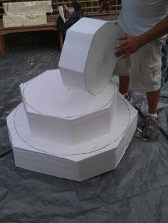 Carving The Foam 3-Tier Fountain Prop