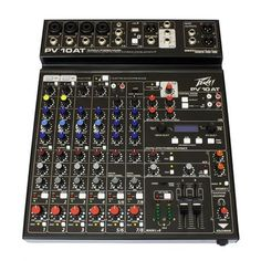 Peavey PV 10 AT Pro Audio Mixer with Bluetooth and Antares Auto-Tune Level 5, Powered Speakers, Professional Audio, Usb, Phantom Power, Audio In, 4 Channel, Bluetooth, The Incredibles