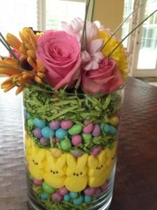 My Easter Centerpiece! Fun with Easter treats!!