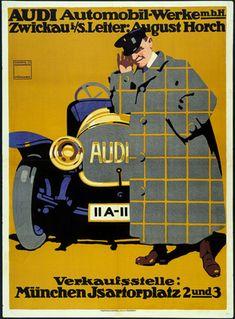 Ludwig Hohlwein. Audi Automobil-Werke. 1912