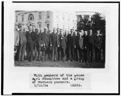 [Calvin Coolidge on the White House lawn, with members of the House Agricultural Committee and a group of western farmers] Calvin Coolidge, Library Of Congress, Farmers, Thrift, Westerns, Lawn, Presidents, House, Home