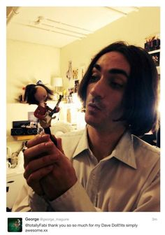 George maguire tweeting his love for his Sunny Afternoon FaBi DaBi Dolls