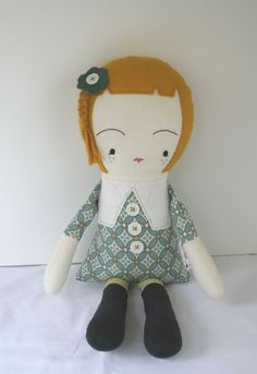 Rag Doll Plush Doll Fabric Doll Handmade Cloth door OhSewCuteByMel,