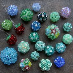 Basic Beaded Beads II - Tutorial http://www.sova-enterprises.com/catalog/product_info.php?products_id=19008
