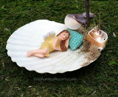 Fairy Garden Day Bed / Spa Day Miniature by TheEnchantedAcorn