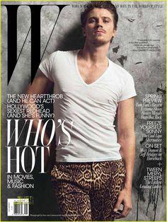 Garrett Hedlund for W Magazine US, January 2011 Garrett Hedlund, Animal Print Pants, Leopard Pants, Cover Model, On Set, Vanity Fair, Hollywood, Celebs, Actors