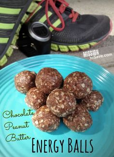 Chocolate Peanut Butter Energy Balls recipe perfect for after workout or school snack.