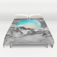 It Seemed To Chase the Darkness Away (Guardian Moon) Duvet Cover