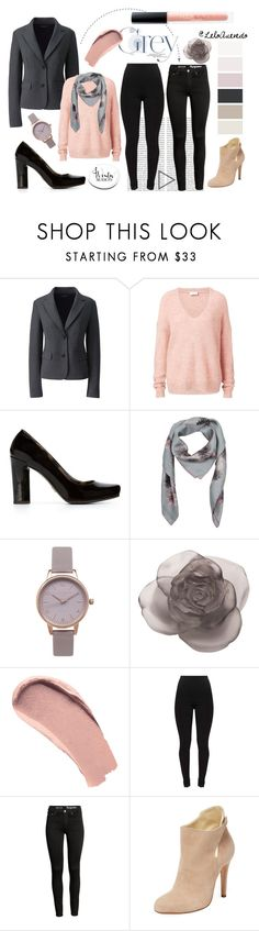 """Grey and Rose"" by leloquevedo on Polyvore featuring moda, Lands' End, Witchery, Dolce&Gabbana, Valentino, Olivia Burton, Daum, Burberry, Sarah Flint y Huda Beauty"