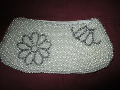 Vintage+Pearl+Beaded+Small+Clutch+Purse+Evening+by+SpiritsLaughing,+$8.00
