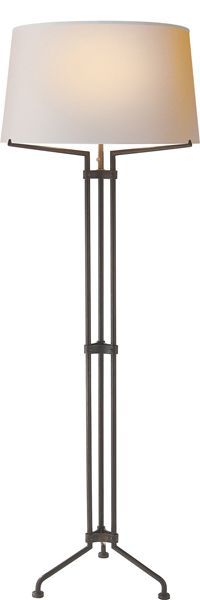 TERRAZO TRI-LEG FLOOR LAMP $1050 Aged Iron
