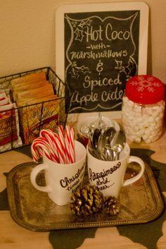 Making a Hot Coco Bar {Christmas Edition}
