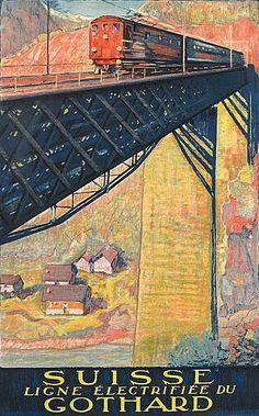 By Danielle Buzzi (1890-1974), 1924, Suisse Gothard. ~Via Vesna Vujovic-Utjesinovic II