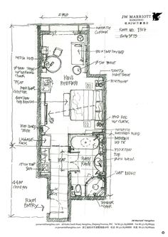 Hotel Floor Plan, House Floor Plans, Bungalow Resorts, Interior Design Layout, Bathroom Images, Bathroom Ideas, House Layout Plans, Hotel Room Design, Apartment Plans