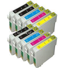 10 ink T0711-T0714 compatible ink cartridge For EPSON Stylus SX215/SX218/SX400/SX405/SX405WiFi/SX410/SX415/SX510 printer