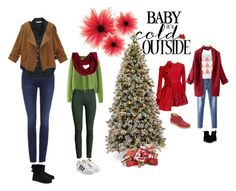 """Baby It's cold outside"" by caterineevita on Polyvore featuring Elie Saab, Tommy Hilfiger, Ally Fashion, Dr. Martens, H&M, prAna, adidas Originals, Calvin Klein, Xirena and UGG Australia"