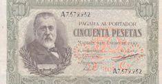 Galería de escritores inmortalizados en billetes de pesetas.