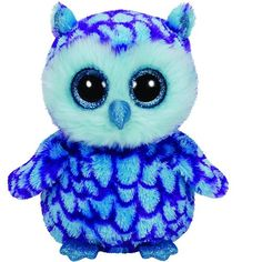 Ty Beanie Boos Oscar the Blue/Purple Owl Regular Plush | ToyZoo.com