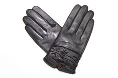 Leather and Polyester Glove w/ Scrunched Bottom