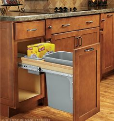 1000 ideas about kitchen trash cans on pinterest vacuum for American woodcraft kitchen cabinets