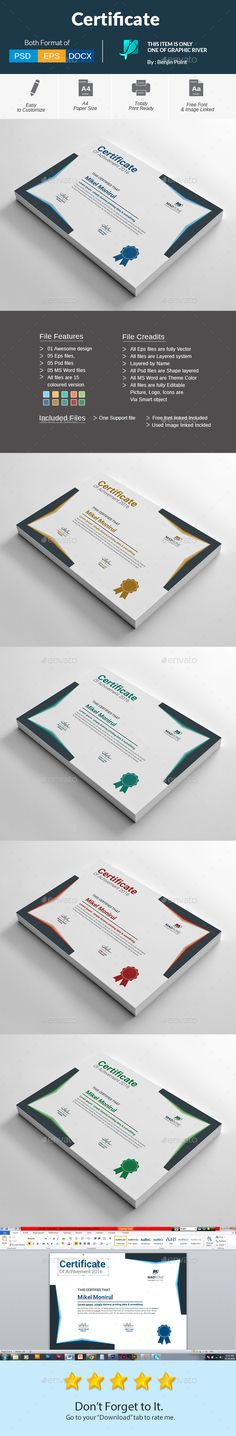 #Certificate - Certificates #Stationery Download here:  https://graphicriver.net/item/certificate/18626005?ref=alena994