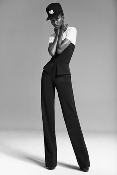 Monochrome Beauty with Herieth Paul - Tanzanian-born New York based model looked stunning with a whole lot of street-style in Malina Corpadean's editorial titled 'Statement Pieces'