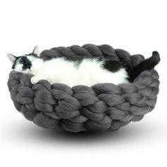 Diy Woolen Cat Nest Hand Knitting img 1