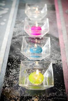 4 Bougies flottantes de différents coloris