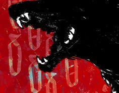 Bilderesultat for dark arts aesthetic Arte Punk, Arte Horror, Art Et Illustration, Red Aesthetic, Dark Art, Art Inspo, Creepy, Beast, Creatures