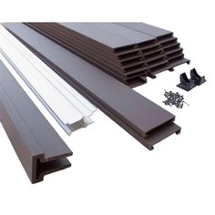 x 8 ft. Woodland Brown Wood-Plastic Composite Board-On-Board Privacy Fence Panel Kit - - The Home Depot Backyard Privacy, Small Backyard Landscaping, Grey Wood, Brown Wood, Trex Fencing, Privacy Fence Panels, Fence Sections, Eco Friendly Makeup, Composite Board