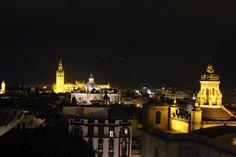 Sevilla at night. Spain