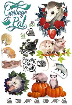 Temporary Tattoos · Opossum, my Possum · Online Store Powered by Storenvy