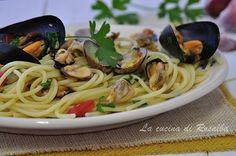 spaghetti con cozze e vongole | ricetta la cucina di rosalba