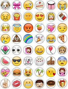 Emoji Cupcake Toppers 15 x pre-Cut per Sheet (Best Quality) Emoji Cake Toppers, Cupcake Toppers, Edible Cake Decorations, Bottle Cap Images, Wafer Paper, Printable Coloring, Iphone, Drawings, Techno
