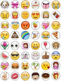 Emoji Cupcake Toppers 15 x pre-Cut per Sheet (Best Quality) Emoji Cake Toppers, Cupcake Toppers, Cupcake Emoji, Edible Cake Decorations, Emoji Faces, Bottle Cap Images, Wafer Paper, Printable Coloring, Drawings