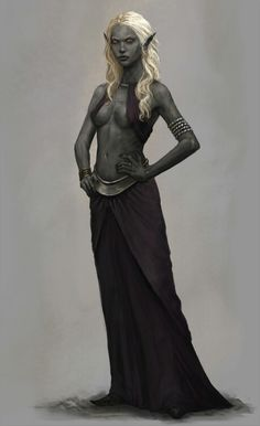Nice face, hair, and skin tone, but would need to wear a lot more clothes than that for typical Dark Elf society; it's cold as sin where they live Fantasy Races, High Fantasy, Fantasy Rpg, Medieval Fantasy, Fantasy Girl, Fantasy Artwork, Female Character Concept, Fantasy Character Design, Character Art