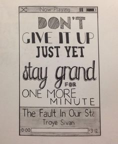 Troye Sivan - The Fault In Our Stars.                            @thelostsnackbar