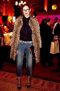 Jenna Lyons Masters How To Style A Leopard Print Coat