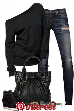 Wedges Outfit, Look Fashion, Winter Fashion, Fashion Outfits, Womens Fashion, Fashion Ideas, Ladies Fashion, Celebrities Fashion, Sporty Fashion