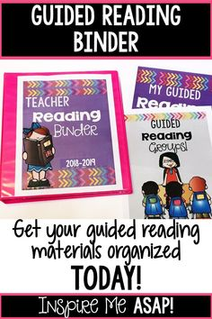 Are you looking to get your guided reading materials organized once and for all? This resource is everything you need to help you not only implement guided reading in your classroom, but also help you with a way to organize all of your materials. Click he Guided Reading Binder, Guided Reading Organization, Teaching Reading, Classroom Organization, Teaching Ideas, Reading Comprehension Activities, Primary Classroom, Reading Workshop, Close Reading