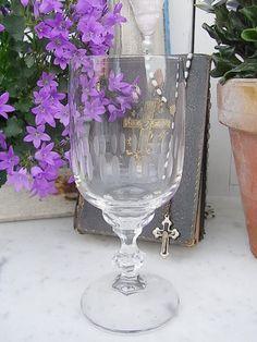 Vintage Gläser - 10 mid century Weingläser Weinkelche Schliff - ein Designerstück von artdecoundso bei DaWanda