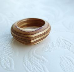Chunky Birch plywood ring by BeretNice on Etsy