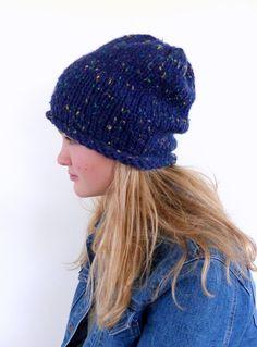 Chunky knit beanie  Chunky slouchy beanie  by SallyAnnaBoutique